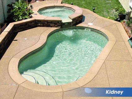 Kidney shaped swimming pools from Billy's Pool Services