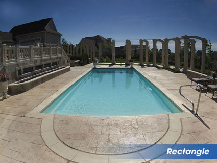 Rectangle swimming pools for Ashland, VA