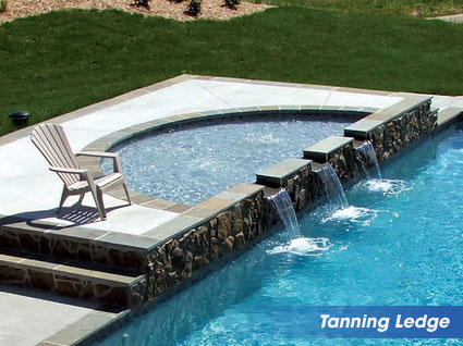 Tanning Ledges for your swimming pool